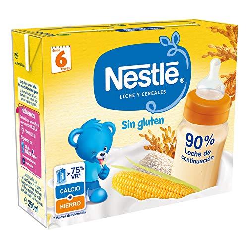 Nestlé Leche y Cereales Sin gluten - Alimento Para bebés - Paquete d