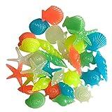 Raspbery / Starfish Conch Colorido Decorativo Starfish Conch Shell Brilla en la Oscuridad Paisaje Piedras Noctilucentes Adoquines para Acuario Decoración de florero de Tanque de Peces Advantage