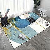 con Calidez alfombras Infantiles Baratas Elementos Abstractos Blancos Azules Amarillos Alfombra Outlet 160X230cm