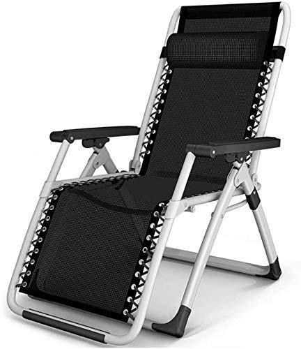 ADHW Sillón reclinable, sillón de exterior reclinable, silla de jardín plegable de jardín, sillas largas reclinables de exterior