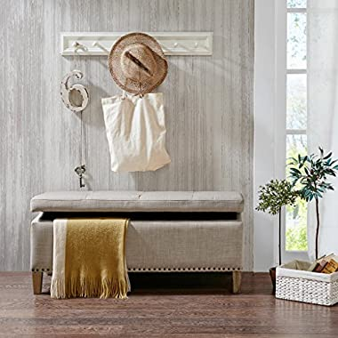 Madison Park Shandra Tufted Top Storage Bench, See below, Natural