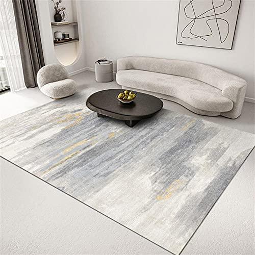 Tapis IKEA Carpeto Rugs Chambre Bebe Complet Tapis, Chambre, Tapis de Sol Domestique, Gris, Simple, Lavable en Machine sans déformation Terasse Balcon 160X200cm