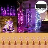 Sweetneed 2M 20 LED Luci per Bottiglia (8 pezzi),Bottiglia Lampada Led,Lucine LED a Batteria, Filo di Rame Led Decorative Stringa Luci da Interni e Esterni per Festa, Giardino, Natalizie, Halloween
