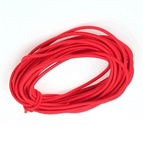 Ninepeak 1/8-Inch Heavy Stretch Round String Elastic Cord, 12 Yards (Red)
