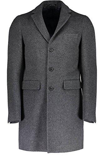 GANT Herren Mantel Men's O1. the Harrison Over Coat, Grau - Grey (Antricit Melange), XXL
