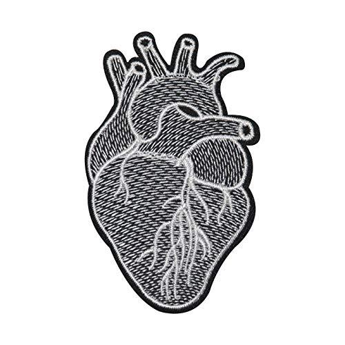 Finally Home Anatomisches Herz in schwarz weiß Bügelbild Patches zum Aufbügeln | Patch, Aufbügelmotive