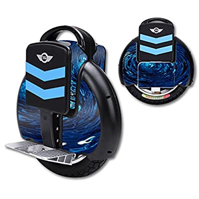 MightySkins Skin Compatible with TG-F3 Self Balancing one Wheel Electric Unicycle Scooter wrap Cover Sticker Blue Vortex