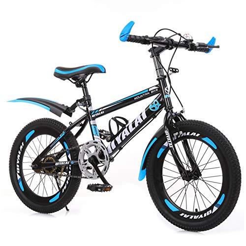 GZMUK Mountainbike 18,20,22,24 Zoll Für Kinder Oder Erwachsene Über 10 Jahre Mountainbike Fahrrad Für Kinder Kinderfahrrad,Blau,18 in