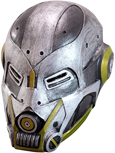 High-Tech Duty Robot Adult Latex Mask Steampunk Cosplay Cyborg Sci Fi Accessory