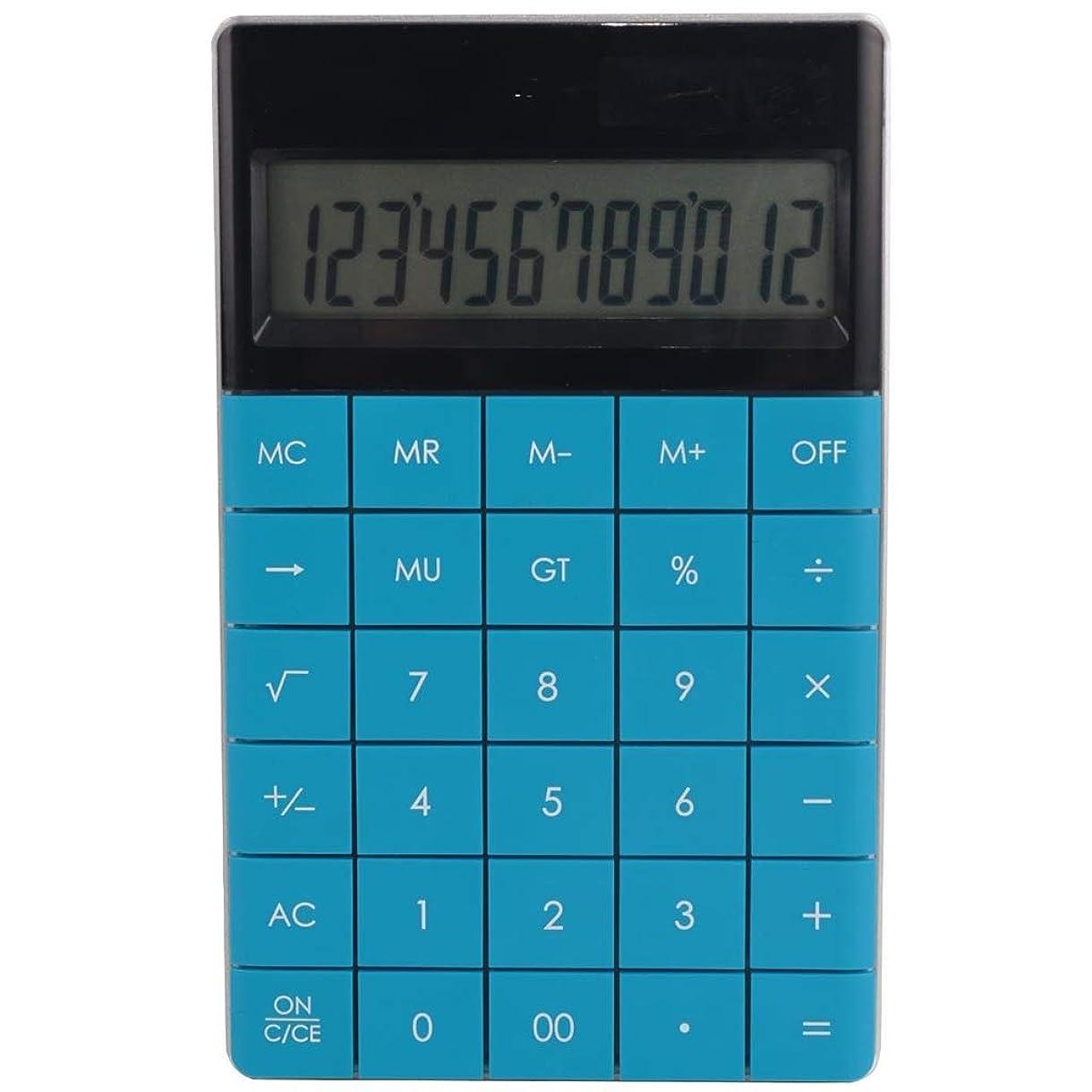 聡明契約した要求電卓、超薄型マルチカラーオフィスファイナンス、特別ファッションコンピュータ、ビジネス電卓 (Color : Blue)