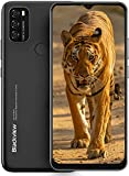 Blackview A70 Android 11 Smartphone ohne Vertrag Günstig, 6,5 Zoll HD+ Bildschirm 5380mAh Akku, 13MP+5MP Dual Kamera, 3GB + 32GB ROM, Dual SIM Handy Schwarz