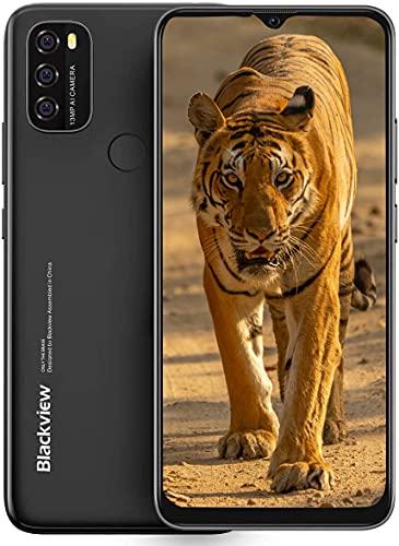 Blackview A70 Android 11 Smartphone sin contrato, 6,5 pulgadas, pantalla HD+, batería de 5380 mAh, cámara dual de 13 MP + 5 MP, 3 GB + 32 GB ROM, Dual SIM, color negro