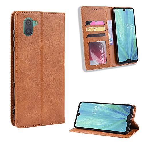 Custodia® Flip Brieftasche Hülle für Sharp Aquos R3(Muster 4)