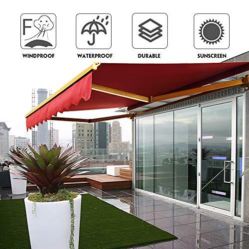 Baogu 3x2.5m Markisen Markisenbespannung Ersatzdach Outdoorstoffe Ersatzstoffe Markisenstoffen Grün