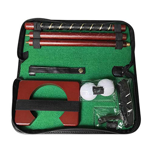 ZQYX Juego de Putter de Golf, Kit de práctica de Putter de Golf portátil, Entrenador de Putter de Golf, Kit de Entrenador de Putt portátil para Interiores y Exteriores, 2 Bolas