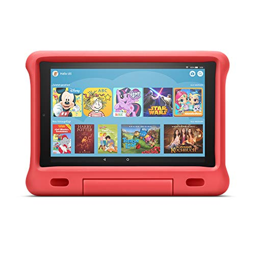 Kindgerechte Hülle für Fire HD 10-Tablet (kompatibel mit Tablets der 9. Generation, 2019), Rot