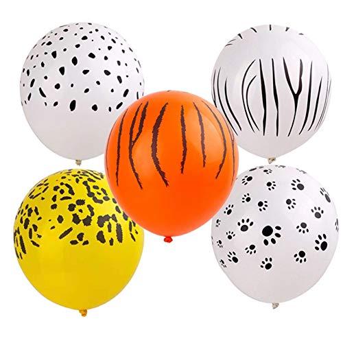 WZRQQ Dier latex ballonnen tijger zebra luipaardgroen ballon bos jungle thema feestdecoratie kinderen verjaardag opblaasbaar