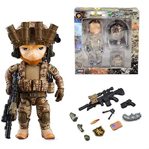 Seal Team 6 Division | Tricky Man Sniper | Militär Figur Paintball Softair Military | Spezialeinheiten Army Spielfigur | 12 cm groß Special Forces Seal Team 6