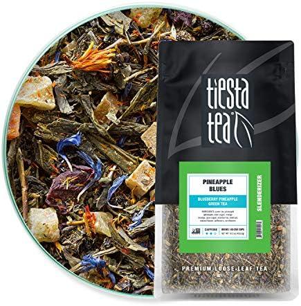 Tiesta Tea Pineapple Blues Loose Leaf Blueberry Pineapple Green Tea Medium Caffeine Hot Iced product image