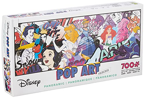 Ceaco 700 Piece Disney Panoramic - Pop Art Princess Jigsaw Puzzle, Kids and Adults