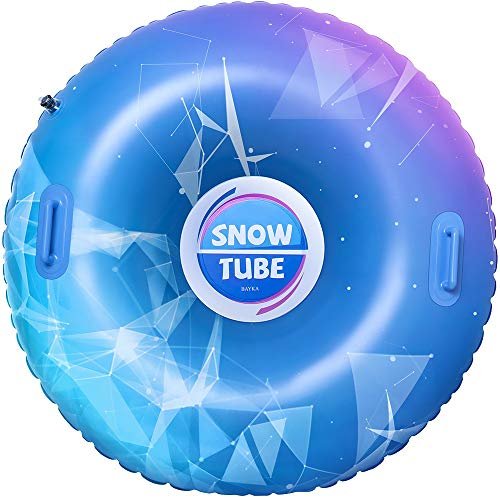 BAYKA Snow Tube for Winter Fun, Inflatable 47 Inch...