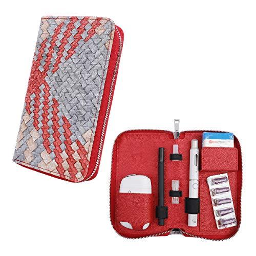 プルームテック プルームエス用のケース 電子タバコ ケース 織柄 Ploom S 収納ケース 防水 大容量 スリム プルームテックプラス 全部収納 コンパクト ケース 撥水性 衛生 電子タバコ 財布型