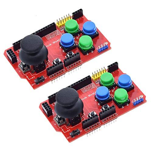 HiLetgo Gamepad Joystick Shield für Arduino, Erweiterungsplatine, analoge Tastatur und Maus-Funktion, 2 Stück