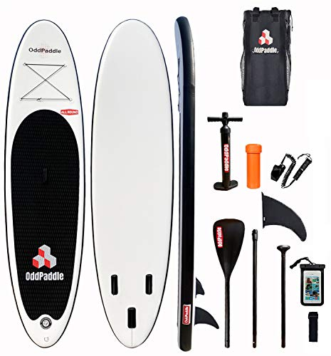 oddpaddle Inflatable Stand Up Paddle Board 11'×33''×6'' Non-Slip Deck with Premium SUP Accessories | Wide Stance, Bottom Fins for Surfing Control | Youth Adults Beginner