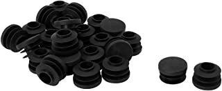 Floor Furniture Chair Table Protector uxcell 1//2 14mm OD Plastic Round Tube Ribbed Inserts End Cover Caps 25pcs 0.43-0.51 Inner Dia
