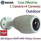 360 Grados Gran Angular Ojo de pez 2.0 MP 1080P Cámara AHD CCTV HD 2000TVL Mini Bala IR Visión Nocturna al Aire última intervensión