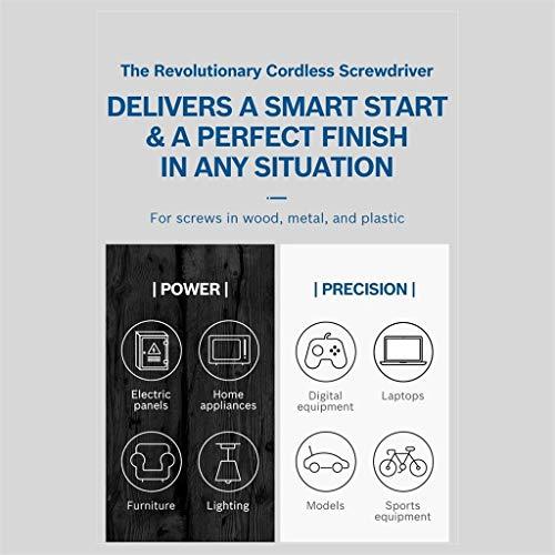 Bosch Power Screwdriver, Vehpro 2 Generation 5 Torque Modes Press/Push to Go Wireless Cordless Electric Handheld…