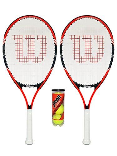Wilson Federer 26 Tennisschläger, mit 3 Tennisbällen, 2 Stück …