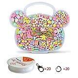 WCOCOW Colores Mezclados Kit Abalorios Cuentas Dados con Letras para hacer pulseras collares (Bear Shape)