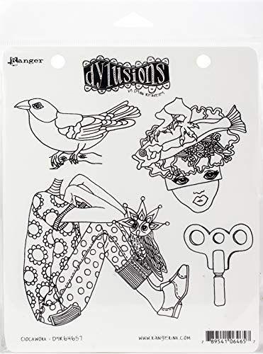 Ranger Dyan Reaveley's Dylusions Cling Stamp Collections 8.5'X7'-Clockwork