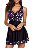 Papaya Wear Plus Size Swimsuits Bathing Suits Cover Ups for Women Tankini Purple 4XL