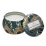 Voluspa piccola candela decorativa in barattolo fantasia giapponese, al profumo di cedro francese e lavanda