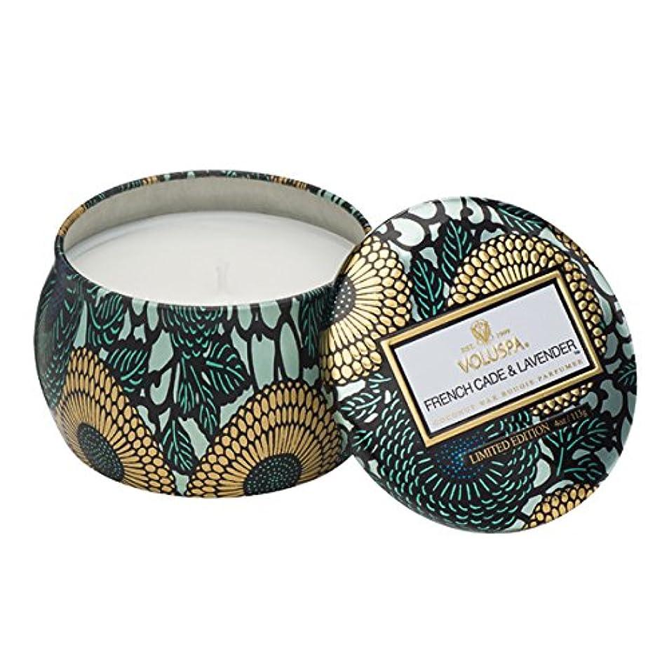 縞模様の近所の学習Voluspa ボルスパ ジャポニカ リミテッド ティンキャンドル  S フレンチケード&ラベンダー FRENCH CADE LAVENDER  JAPONICA Limited PETITE Tin Glass Candle