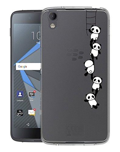 Sunrive Für BlackBerry DTEK50 Hülle Silikon, Transparent Handyhülle Schutzhülle Etui Case Backcover für BlackBerry DTEK50(TPU Panda)+Gratis Universal Eingabestift