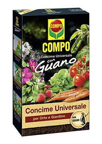 COMPO Concime Universale per Orto e Giardino, Con Guano, Con misurino dosatore, 3 kg