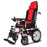 Elektrischer Rollstuhl für ältere Menschen Zusammenklappbare Reiserollstühle mit Verstellbarer Rückenlehne und Kopfstütze Leicht Automatischer Smart Rollator