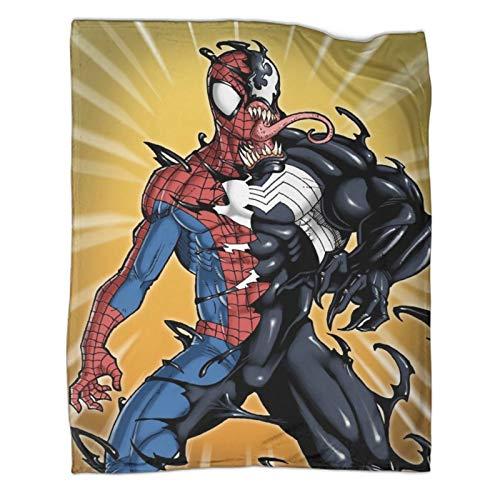 Venom Superhero Spiderman Movie (17) schwere Decke, 80 x 100 cm, weiche und bequeme Bettdecke, Kinderbettwäsche