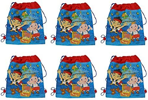 Disney Jake and the Never Land Pirates Non Woven Sling Bags - 14 x 11 x 6 bags by Disney
