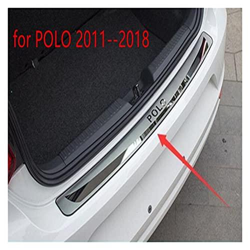 LJF Umbral de la Almohadilla de protección en el Tronco Trasero Recortar la Tapa de la Puerta de la Puerta Hatchback para Polo 2011-2018 (Color : Silver)