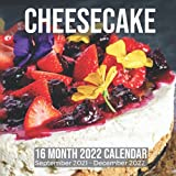 cheesecake 16 month 2022 calendar september 2021-december 2022: square photo date book monthly pages 8.5 x 8.5 inch