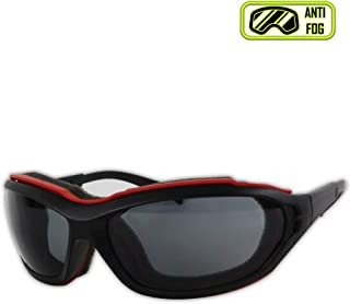Magid Glove & Safety Y85BRAFGY-AMZN Gemstone Onyx Y85BRAFGY Protective Glasses, Polycarbonate , Standard, Black Red Foam Carrier
