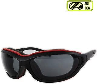Magid Glove & Safety Y85BRAFGY-AMZN Gemstone Onyx Y85BRAFGY Protective Glasses, Polycarbonate, Standard, Black Red Foam Carrier