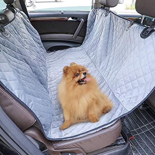 FENG Hund Auto Rückbank Wasserdicht Hunde Autoschondecke Hund Rücksitz Kofferraum wasserdicht Kratzfest und rutschfest Kofferraumschutzdecke,Grau,137 * 147CM
