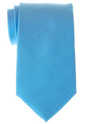 Retreez Cravate micro tissée à rayures en épi pour homme - Bleu clair