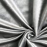 Dekostoff Samt – grau — Meterware ab 0,5m — zum