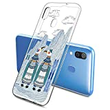 Oihxse Mode Case Compatible pour Galaxy A9s 2018/A9 Pro 2018 Coque Transparent Silicone Gel TPU...